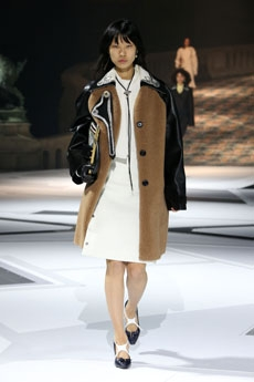4256b10a24b1 ... Miuccia Prada presents several versions of vintage oversized jackets  and coats