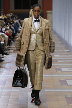 f5b72ae541f In Paris this week, as a celebration of the tailored sensibilities in  menswear, Thom Browne presents its studious, sturdy looks catered for women.