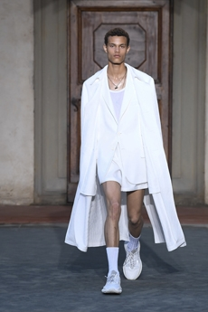 accae707f652 Immediacy is the leading mood presented by Paul Surridge for Roberto  Cavalli Spring Summer 2019 Menswear collection.